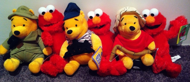 Pooh and Elmo