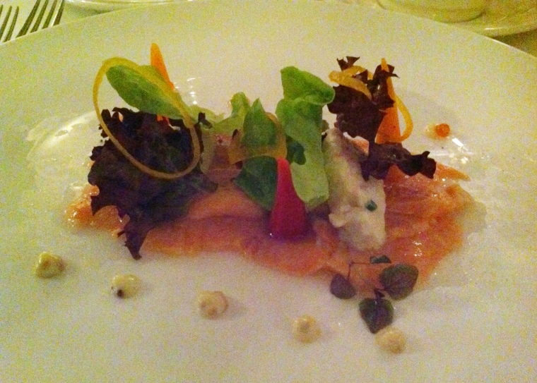 Friends Restaurant: cured salmon