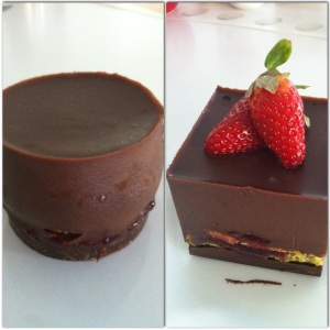 mini choc mousse